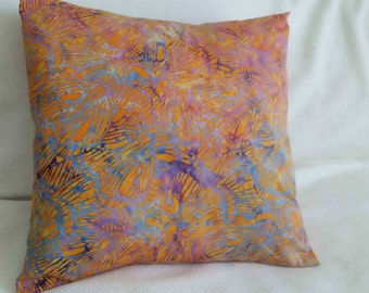 Batik Pattern Pillow Cover - Swappillow Covers - Envelope Closure - Decorative Cover- 16x16 - Throw Pillow - Home Decor