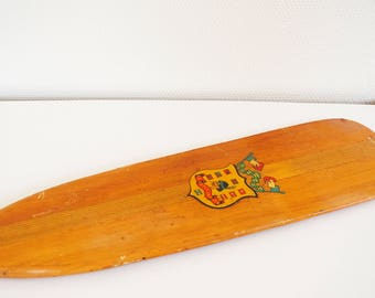 Vintage wooden paddle or oar