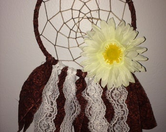 Daisy & Red Roses Dream Catcher