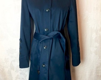 205. SOLD- COLE HAAN - Blue Trench Coat