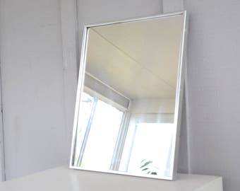 Chrome mirror, vanity mirror, square, rectangle, small