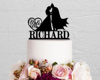 Wedding Cake Topper,Batman Cake Topper,Custom Cake Topper,Mr And Mrs Cake Topper,Hero Cake Topper,Custom Cake  Topper
