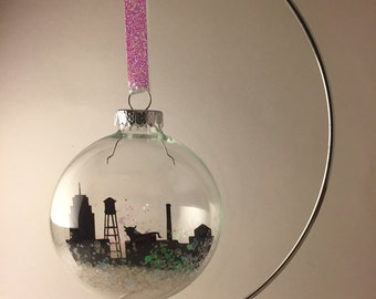 Durham, NC Skyline Ornament