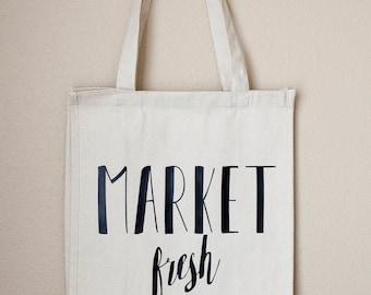 Market Fresh Reusable Canvas Bag