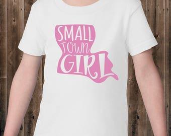 Toddler Louisiana Small Town Girl White Tshirt, Toddler Tee
