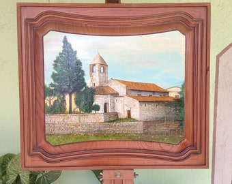 Oil painting, monastery painting