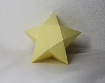 Giftbox in star shape, winter giftbox, box for guest gifts, wedding