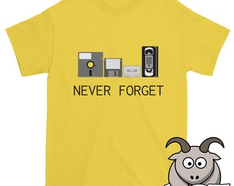 Never Forget Shirt, Retro Technology Shirt, Retro Tech Shirt, Computer Shirt, Technology Shirt, Floppy Disk Shirt, Geek Shirt, Nerd Shirt