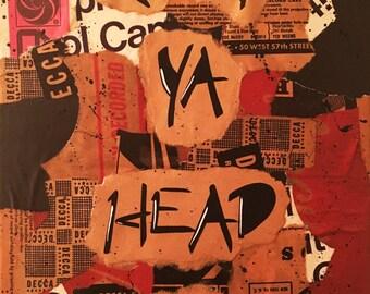 Keep Ya Head Up - 2Pac Vinyl Record Sleeve Collage