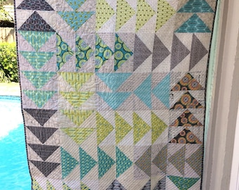 Turquoise/Green Quilt