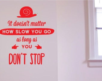 Motivational Wall Sticker Decal Quote, Don't Stop. Art Gift For Home Decor