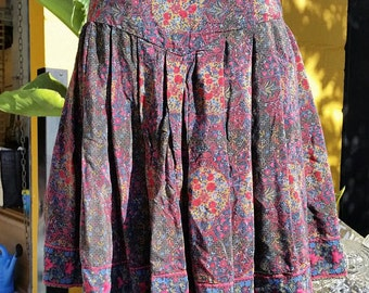 Vintage Silk Pleated Gypsy Skirt