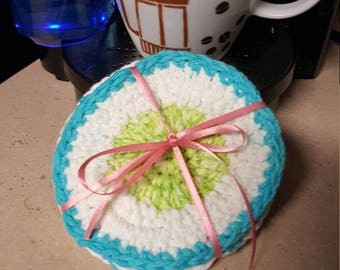Crochet Handmade Coasters, Mug Coasters, Handmade Coasters, Kitchenware