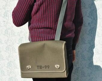 Vintage military bag, military messenger bag, mens crossbody bag, military bag, military canvas bag, mens crossbody bag, mens messenger bag