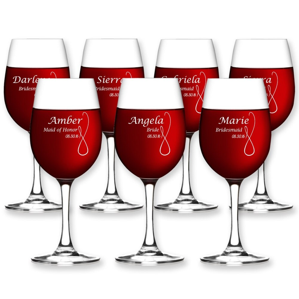 Custom Wine Glasses for Wedding Bridesmaid Wine Glass Best