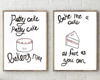 Patty Cake Patty Cake Print