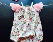 Floral Infant Onesie, Floral Onesie, Baby Girl Onesie, Pink Onesie, Floral Baby Onesie, Baby Girl Outfit, Baby Girl Clothes, Baby Girl, Baby