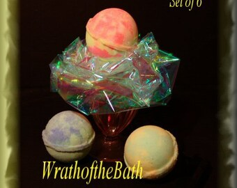 Bath Bomb Glow In The Dark Ultra Violet Neon GloBomb Set of 6