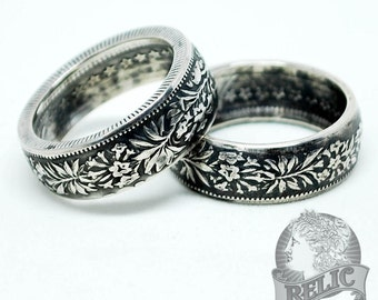 Swiss Silver Two Franc Coin Ring