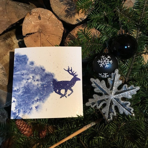 """2 greeting cards """"Blue 6"""