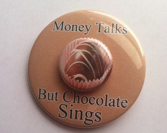 3 Chocolate Buttons, Chocolate Buttons, Chocolate Badges, Chocolate Magnets, Chocolate Lovers Gift, Candy Party Favor, Chocolate Party