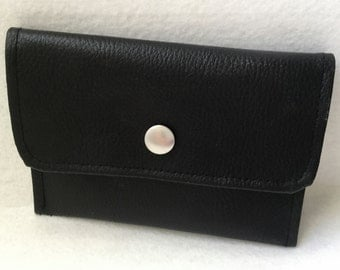 Wallet flap in black leatherette - Ref. PM11