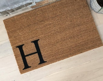 Monogram Doormat - Coir Doormat - Housewarming Gift - Welcome Mat - Cool Doormats