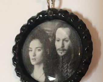 Dracula & Mina Bottle Cap Pendant 2