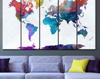 World Map art, World Map, Wall Decor, World Map Canvas, Décor, World Map Poster, World Map, World Map Print, World Map Canvas, World Map art