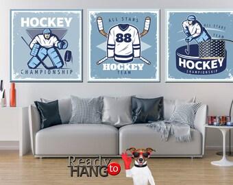 Hockey Room Decor, Boys hockey room, Ice hockey art, Boys ice hockey room, Ice Hockey Art Print, Ice hockey wall art, Large hockey poster
