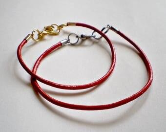 Red Leather Bracelet Red bracelet Kabbalah Bracelet Buddhist bracelet yoga bracelet Red amulet  Mens Red Bracelet yoga bracelet