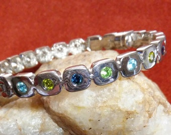 Multi Gemstone Bangle