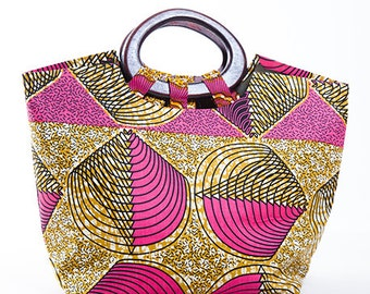 Bag printed Kingsize passion pink in wax