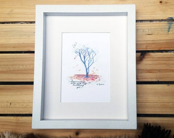 Letting Go // Autumn Tree // Watercolor Print