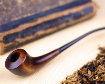 Tobacco pipe - Wooden pipe Handcrafted-Limited Edition - Tobacciana pipe - Exclusive Wood Pipes - Smoking Pipe- Wood carved smoking pipe