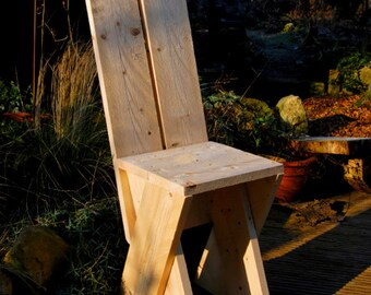 Rustic Style Stool (Wooden Chair)   Model
