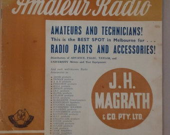 Amateur Radio vintage magazine Nov 1955 rare collectable Radio Institute of Australia