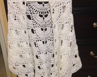 Virus-Stitch Crochet Shawl