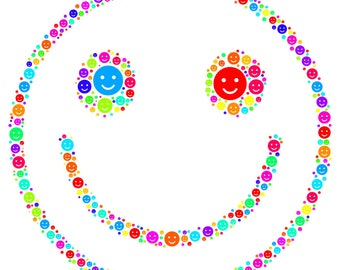 """Smiley Face Pendant with Necklace! Ideal gift for the happy person in your life!! Wear it proudly on 22"""" silver plated necklace!"""