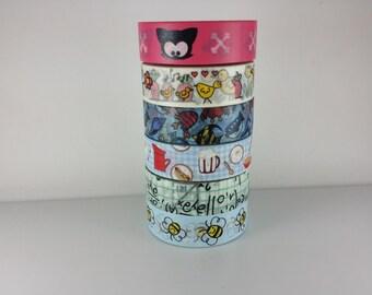 Random Washi tape set of 6