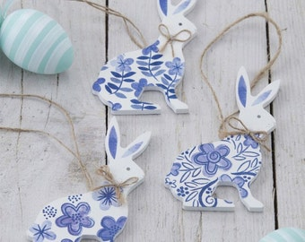 Easter Decorations - Easter Bunny Decorations - Set of Three