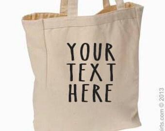 Custom Canvas Tote, Market Bag