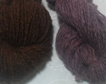 Double-Ply Worsted Handspun Wool Yarn (Lot 74)