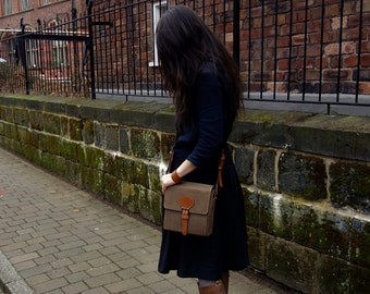 Sold Out----Mailman Leather Bag, Small Messenger Bag, All Handmade, Man or woman shoulder bag, Cross body bag,  Gift for her or him