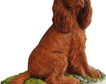 Cavalier King Charles Spaniel Figurines Ruby Blenheim Tri Colour and Black & Tan available. Handmade In England