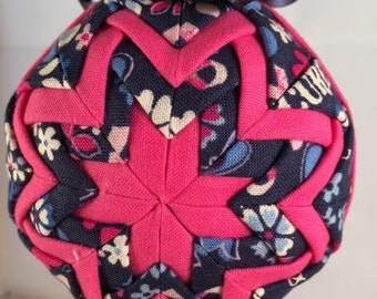Breast Cancer  Awareness Quilted Ball Ornament