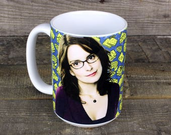 Liz Lemon MUG Night Cheese 30 rock Tina Fey feminist comedian Gifts for TV lovers Best Friends gift for her