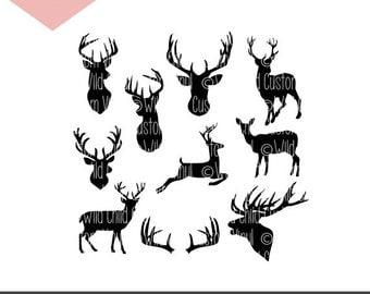 Deer Silhouette SVG, Buck Silhouette SVG, Deer Silhouette, Buck Silhouette, Deer Graphic, Buck Graphic, Deer Cricut File, Buck Cricut File