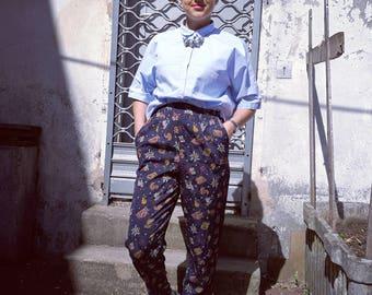 80s High Waist Silky Trousers