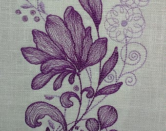 Floral Machine Embroidery Machine embroidery design  Flowers File Download Machine embroidery design Instant Download
